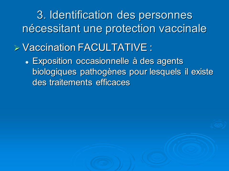 3. Identification des personnes nécessitant une protection vaccinale
