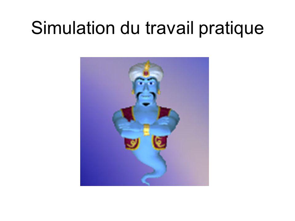 Simulation du travail pratique