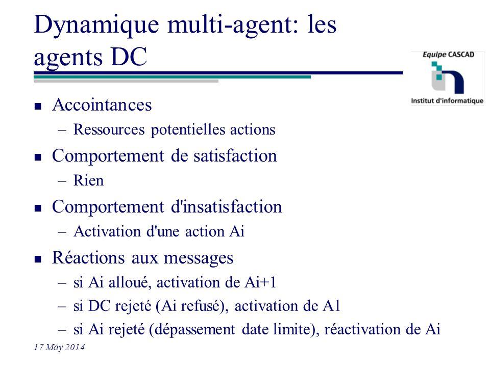 Dynamique multi-agent: les agents DC