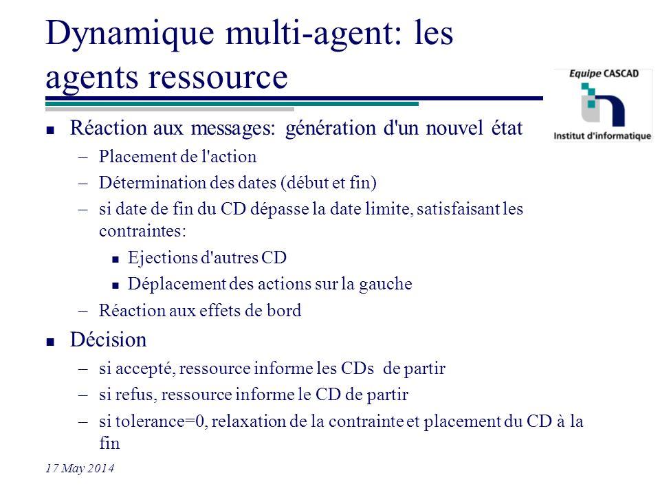 Dynamique multi-agent: les agents ressource