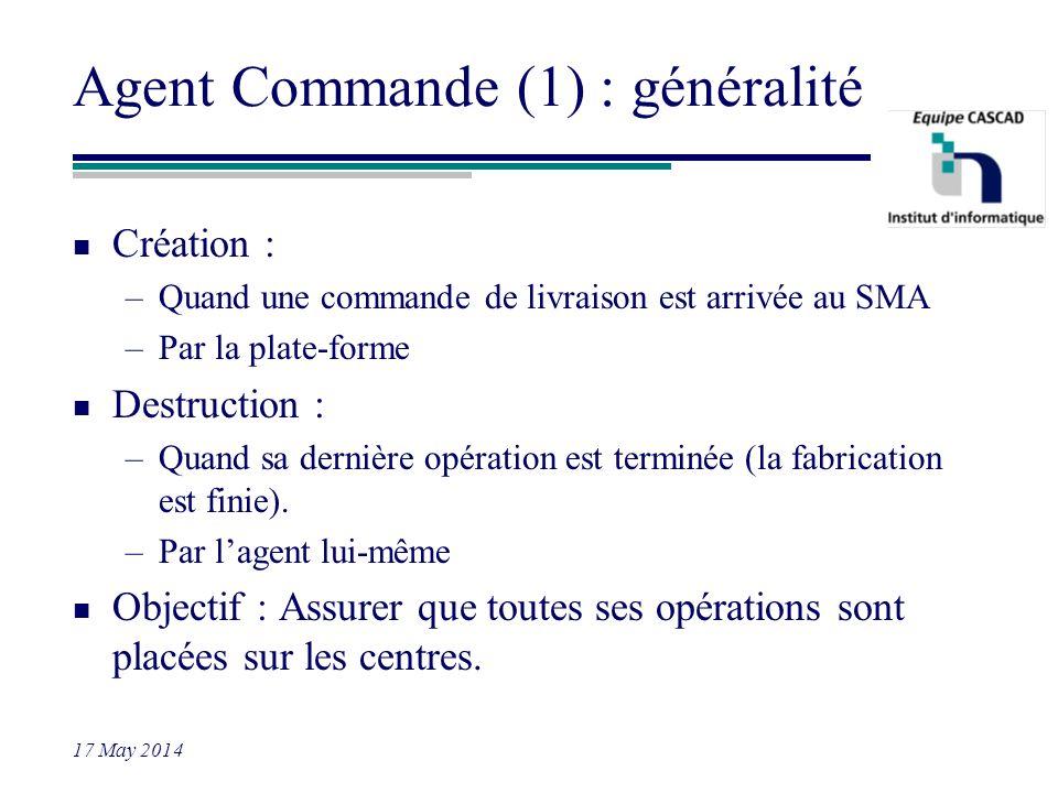 Agent Commande (1) : généralité