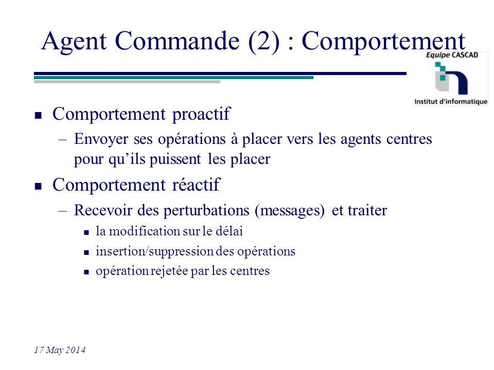 Agent Commande (2) : Comportement