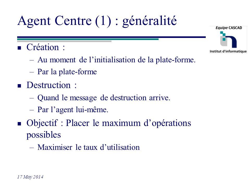 Agent Centre (1) : généralité