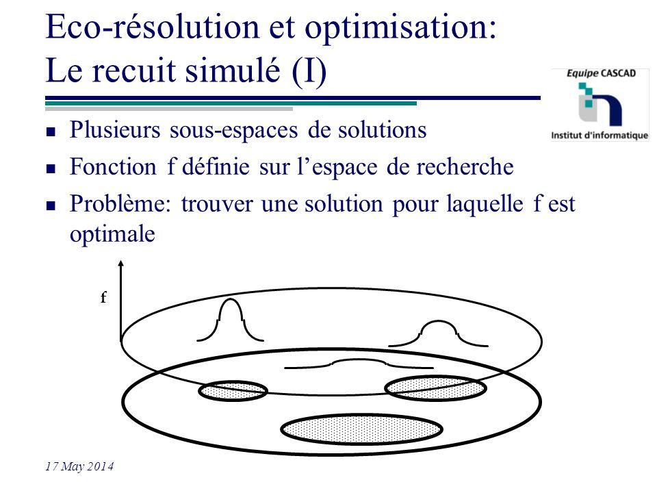 Eco-résolution et optimisation: Le recuit simulé (I)
