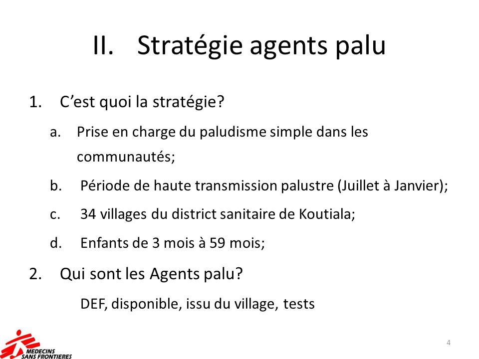 Stratégie agents palu C'est quoi la stratégie