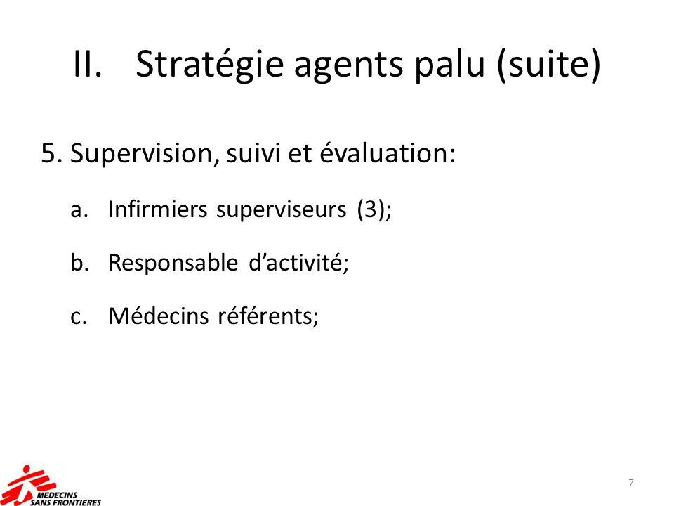 Stratégie agents palu (suite)