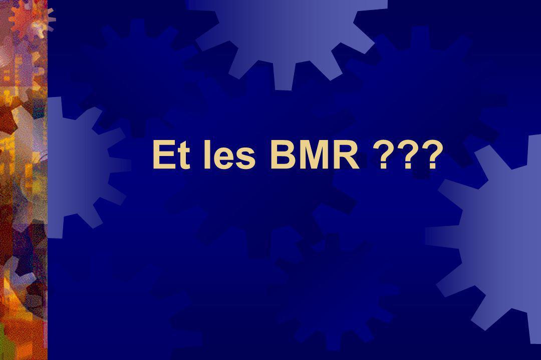 Et les BMR