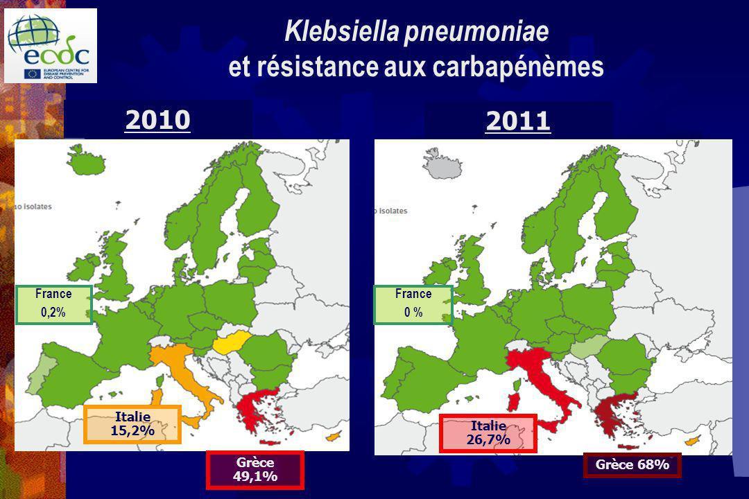 Klebsiella pneumoniae et résistance aux carbapénèmes