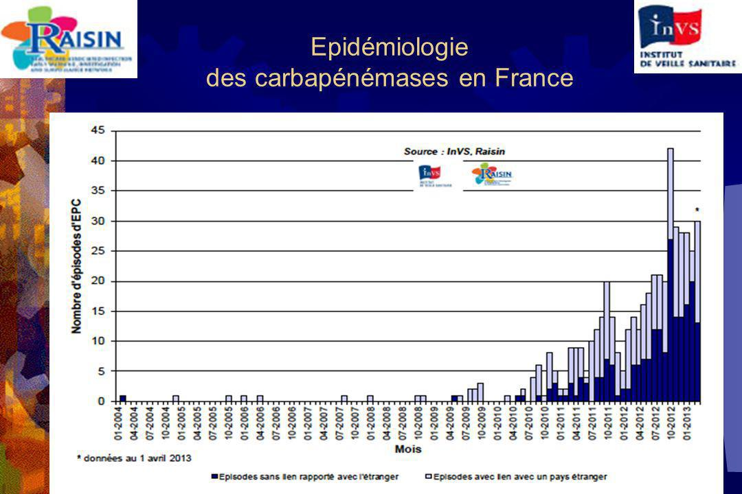 Epidémiologie des carbapénémases en France