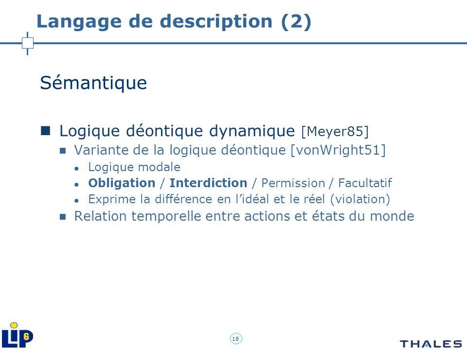 Langage de description (2)