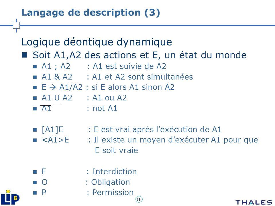 Langage de description (3)