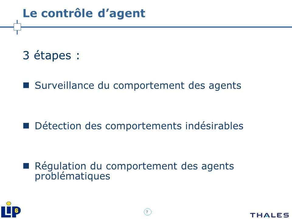 Le contrôle d'agent 3 étapes : Surveillance du comportement des agents