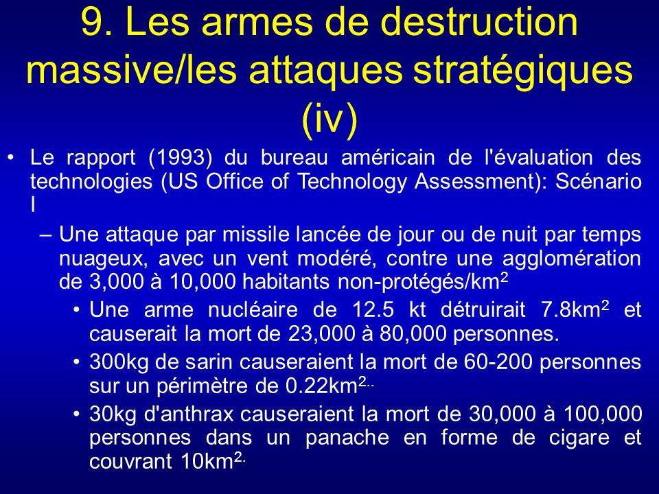 9. Les armes de destruction massive/les attaques stratégiques (iv)