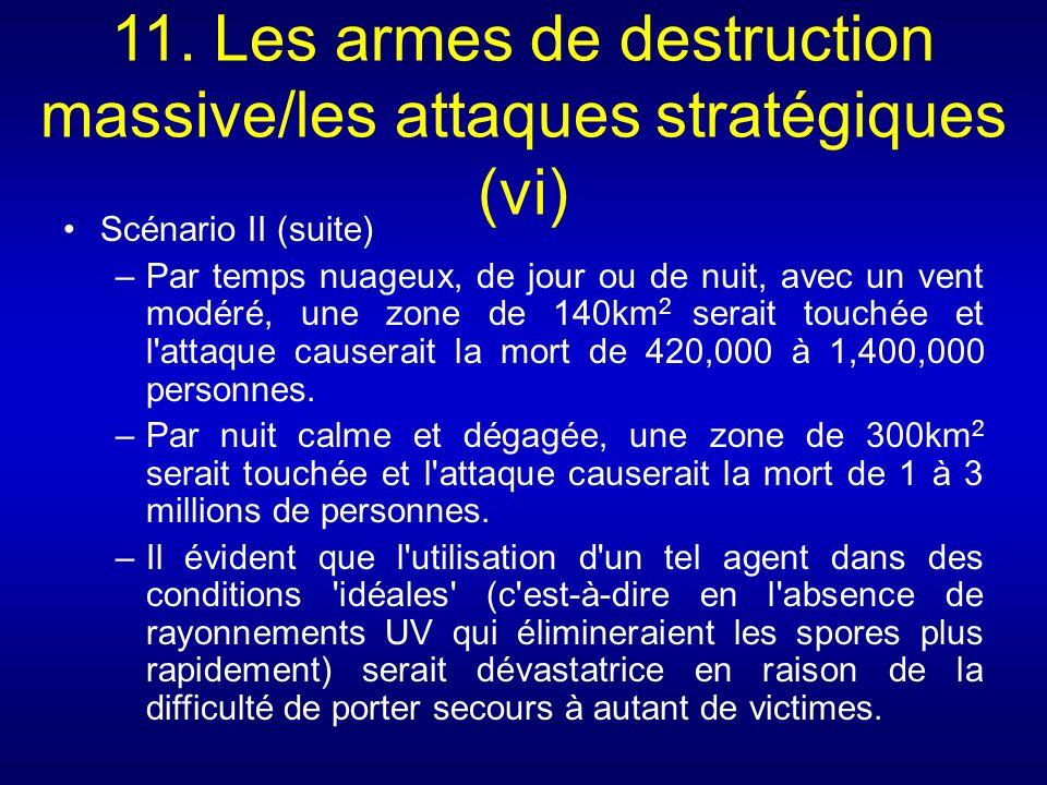 11. Les armes de destruction massive/les attaques stratégiques (vi)