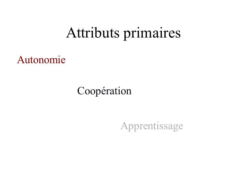Attributs primaires Autonomie Coopération Apprentissage