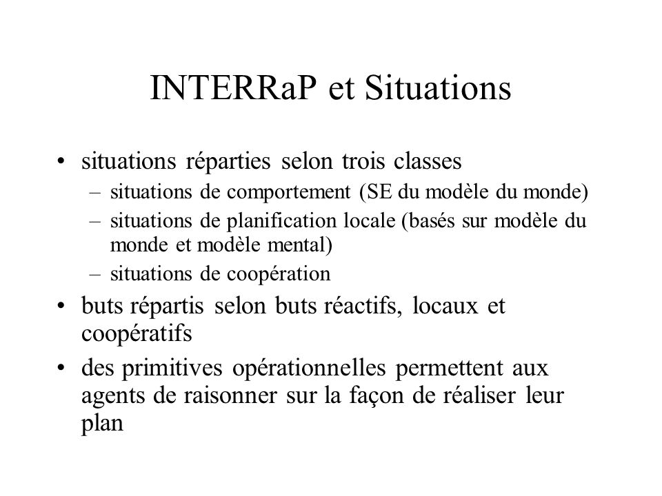 INTERRaP et Situations
