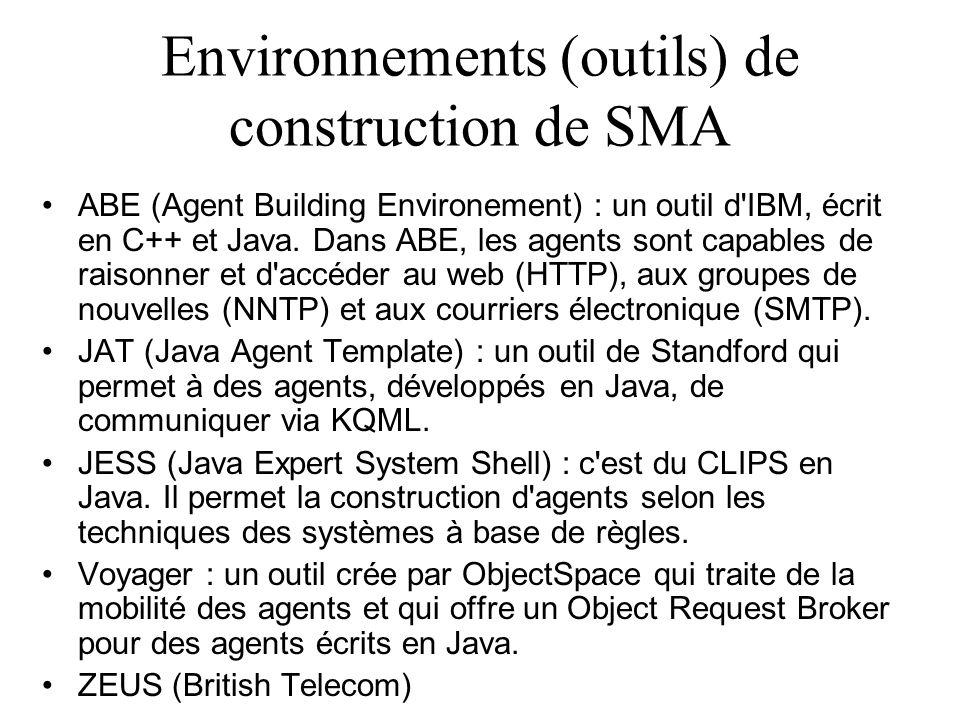 Environnements (outils) de construction de SMA