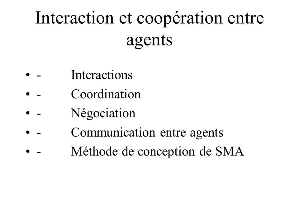 Interaction et coopération entre agents