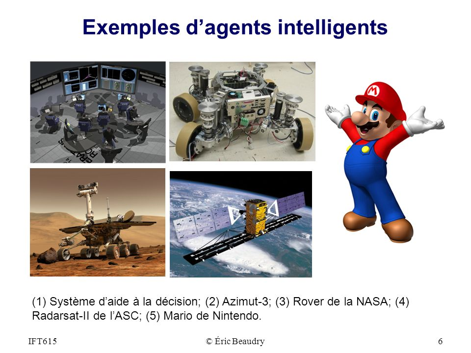 Exemples d'agents intelligents