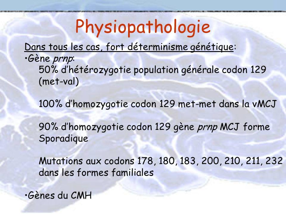 Physiopathologie Dans tous les cas, fort déterminisme génétique:
