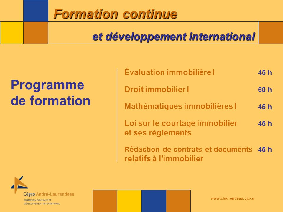 Programme de formation