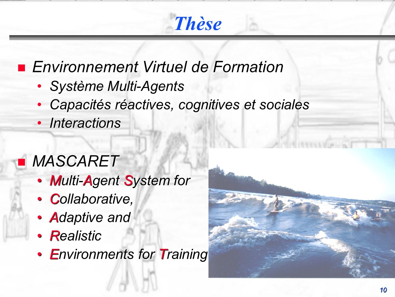 Thèse Environnement Virtuel de Formation MASCARET Système Multi-Agents