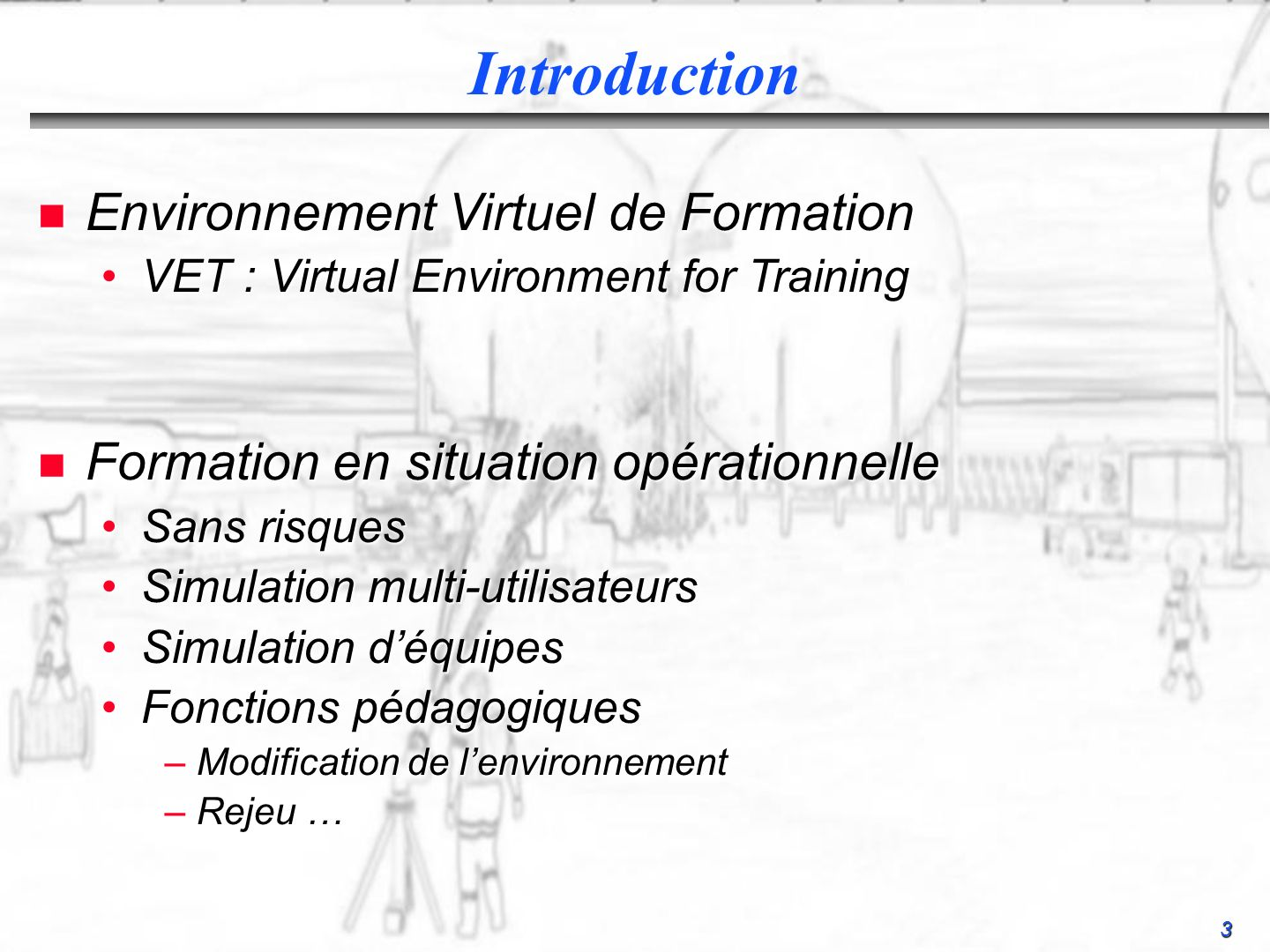 Introduction Environnement Virtuel de Formation