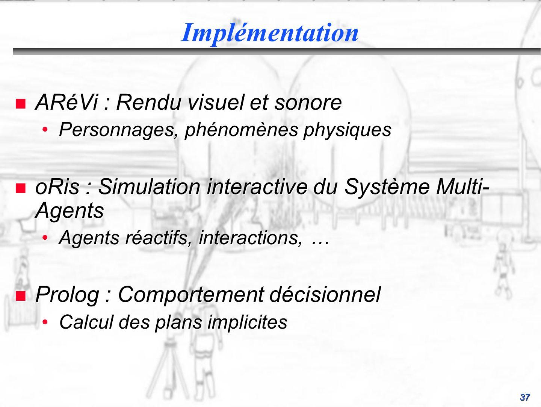 Implémentation ARéVi : Rendu visuel et sonore