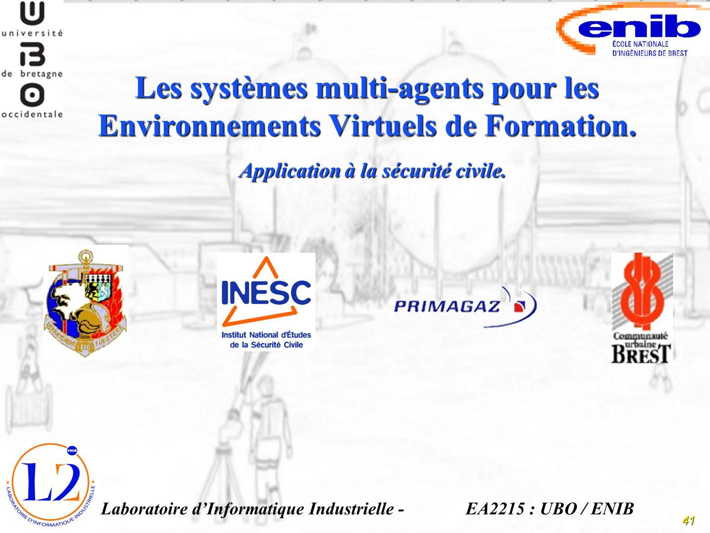 Les systèmes multi-agents pour les Environnements Virtuels de Formation.