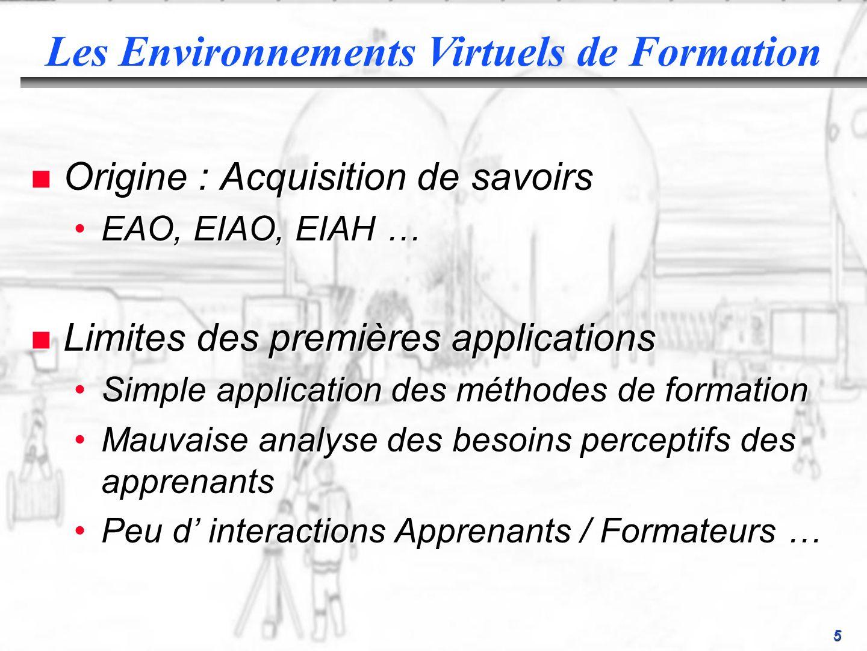 Les Environnements Virtuels de Formation