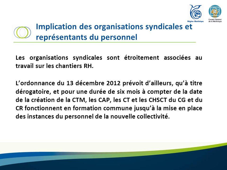 Implication des organisations syndicales et représentants du personnel