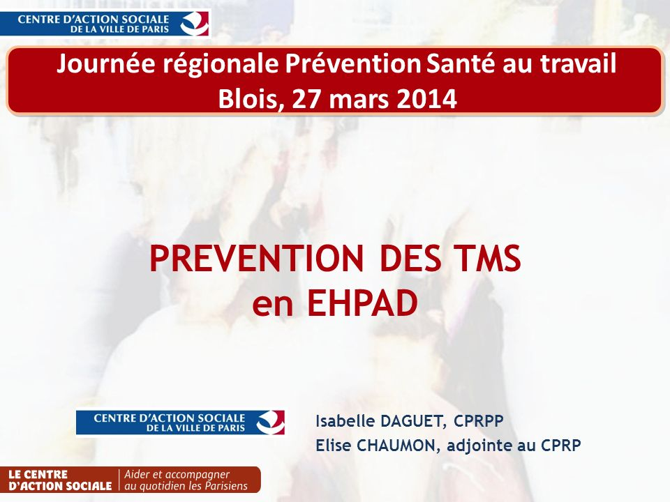 PREVENTION DES TMS en EHPAD