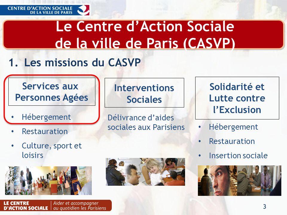 Le Centre d'Action Sociale de la ville de Paris (CASVP)