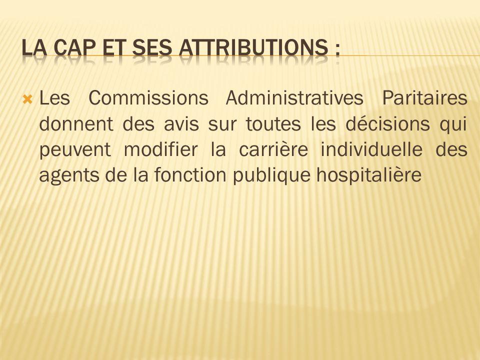 La CAP et ses attributions :
