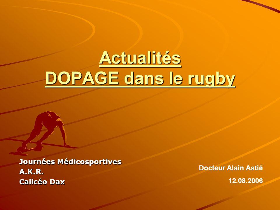 Actualités DOPAGE dans le rugby