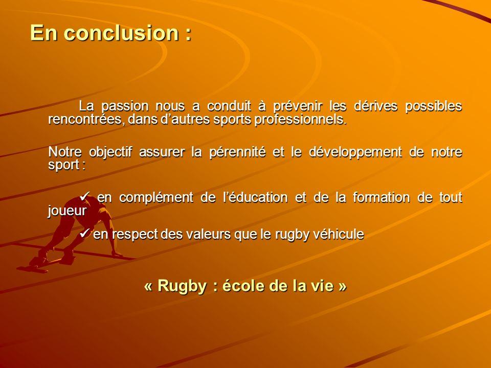 « Rugby : école de la vie »