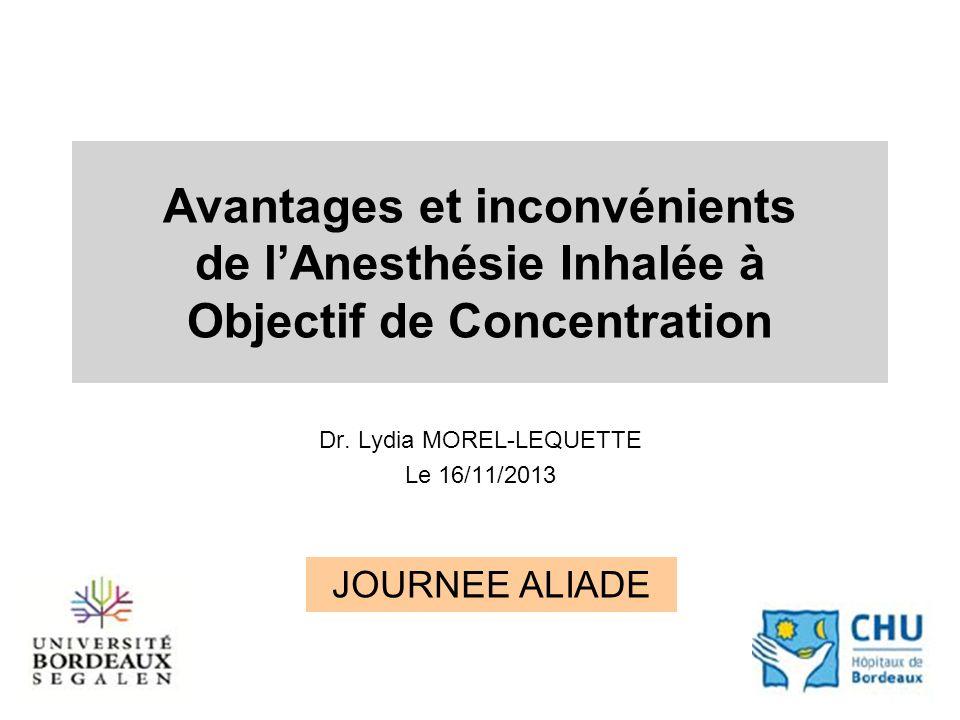Dr. Lydia MOREL-LEQUETTE Le 16/11/2013
