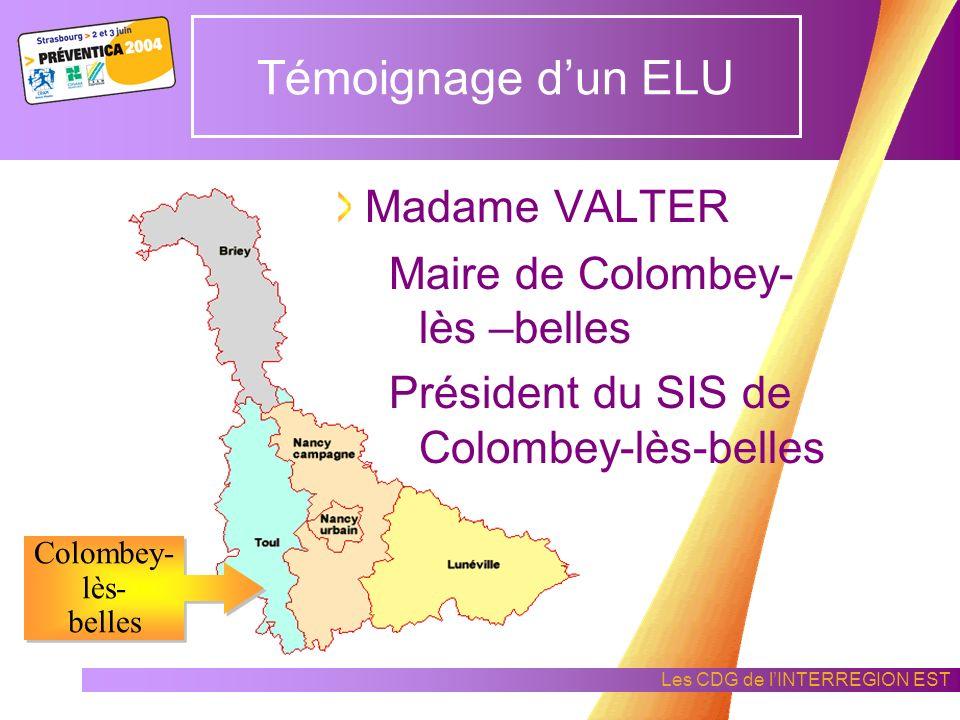 Témoignage d'un ELU Madame VALTER Maire de Colombey- lès –belles