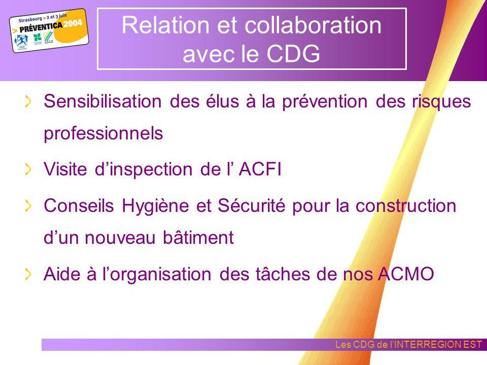 Relation et collaboration avec le CDG