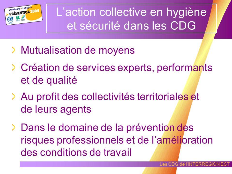 L'action collective en hygiène et sécurité dans les CDG