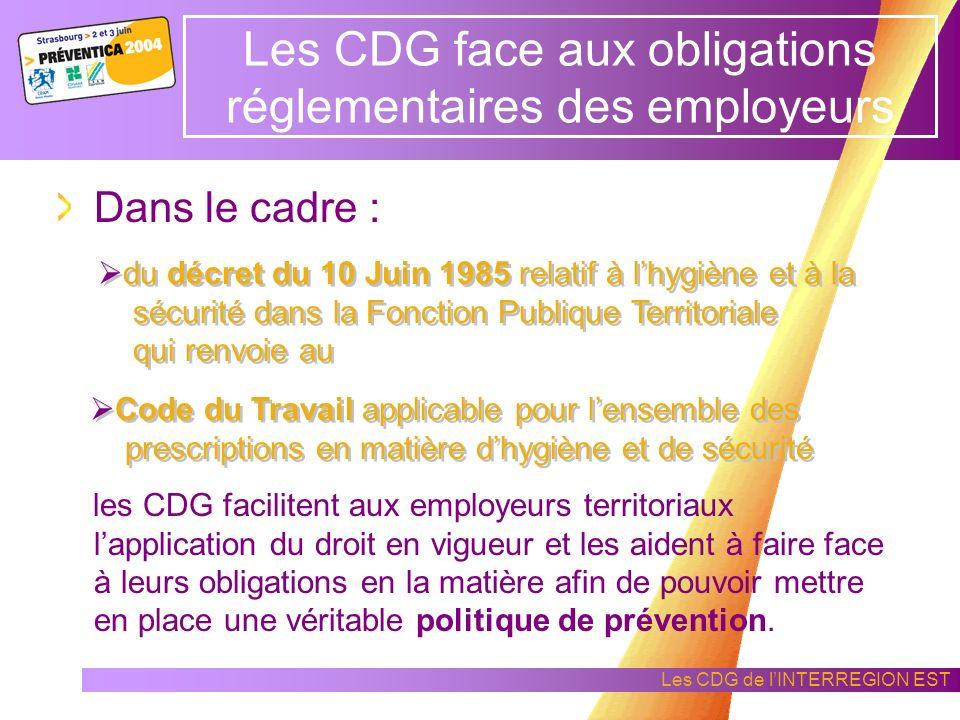 Les CDG face aux obligations réglementaires des employeurs