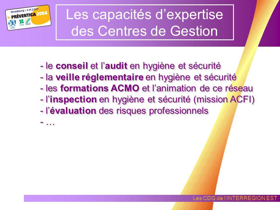 Les capacités d'expertise des Centres de Gestion