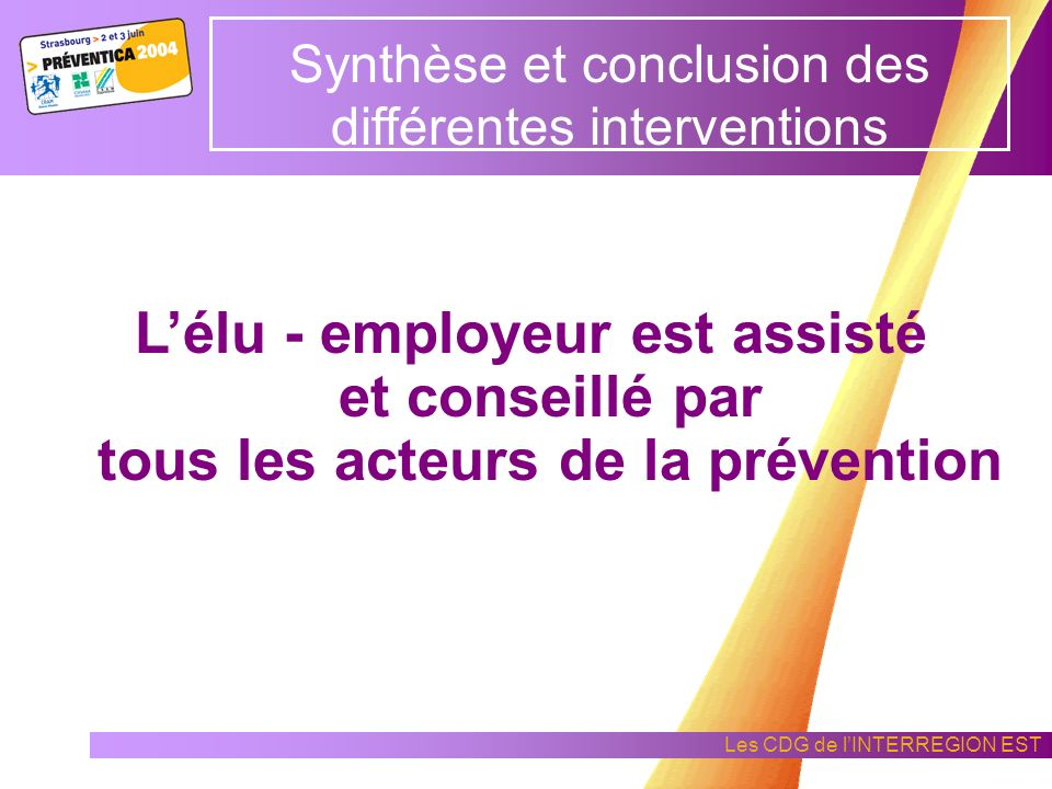 Synthèse et conclusion des différentes interventions
