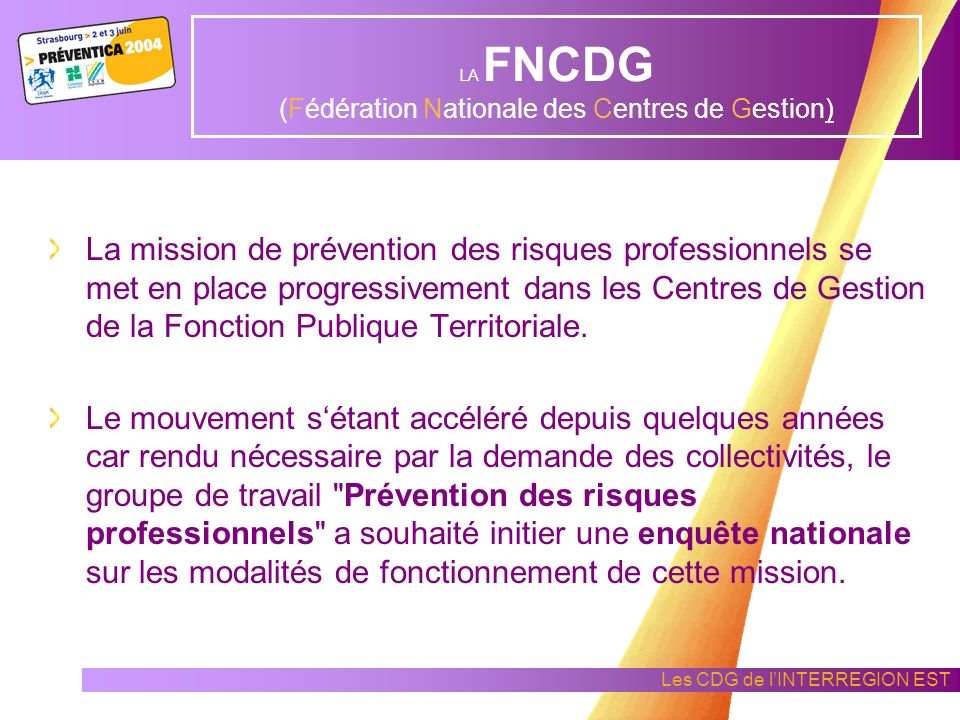 LA FNCDG (Fédération Nationale des Centres de Gestion)