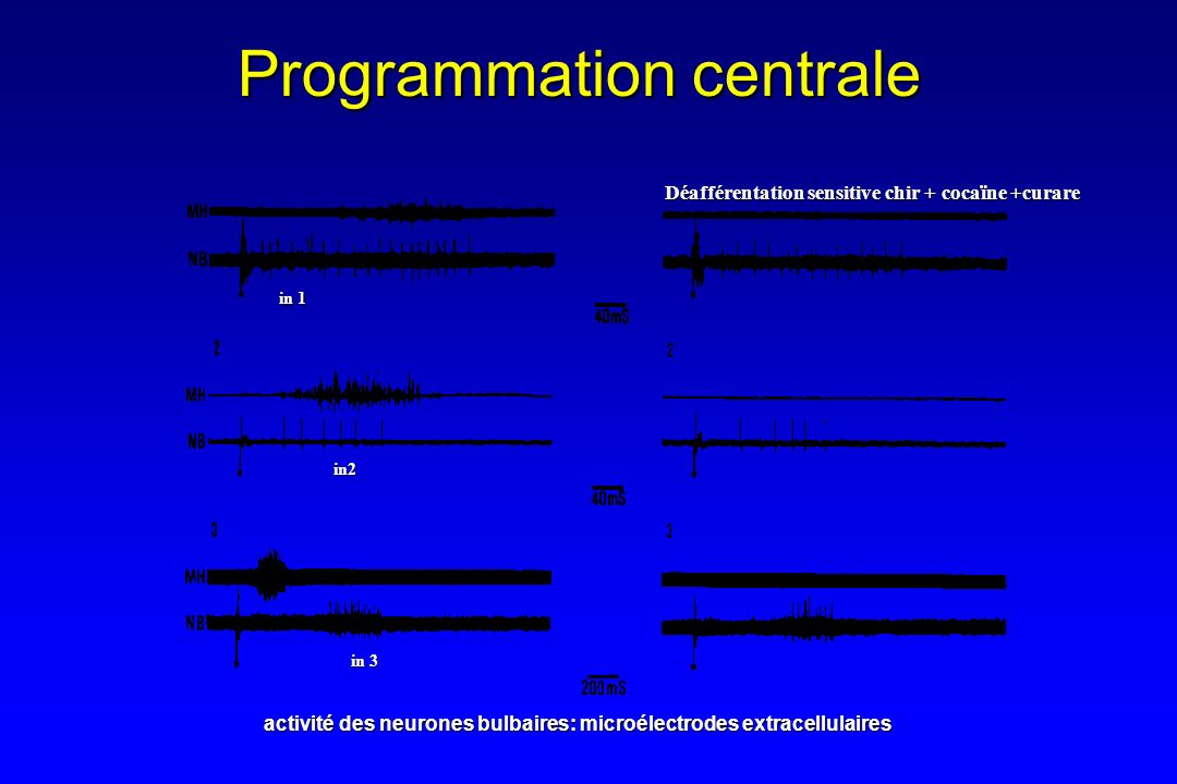 Programmation centrale