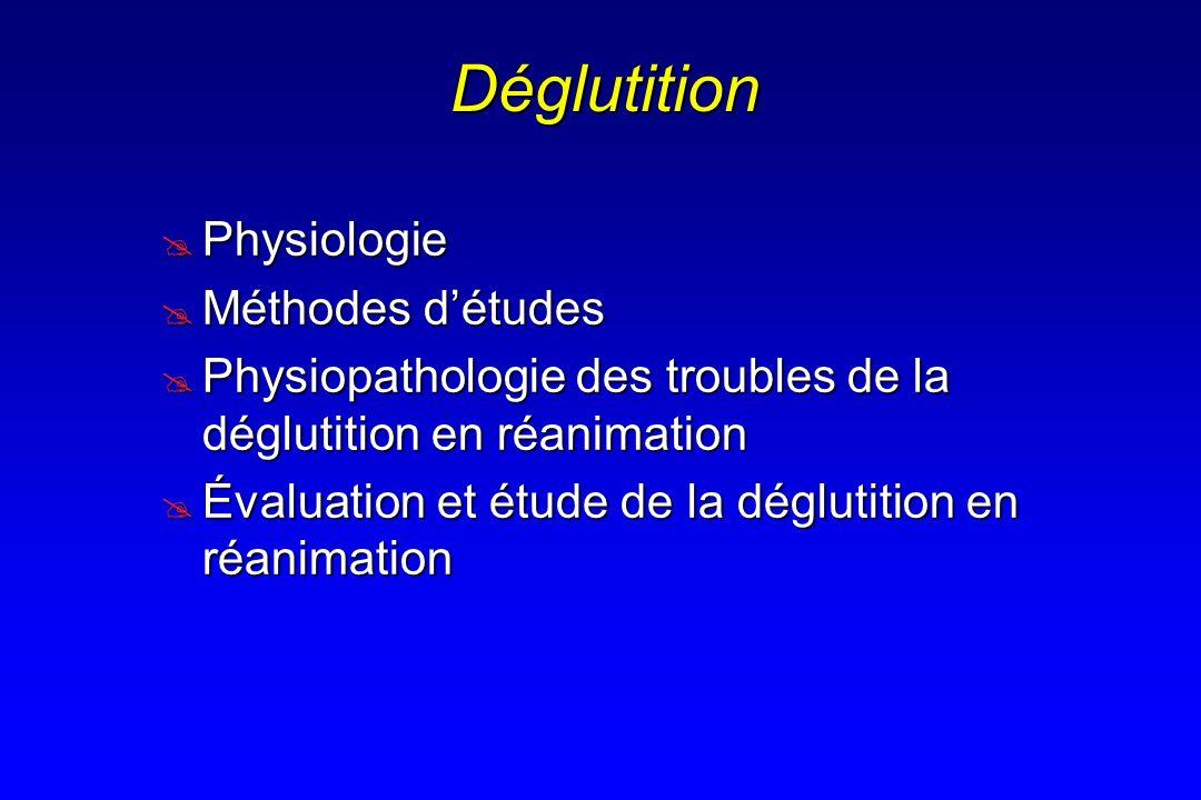 Déglutition Physiologie Méthodes d'études