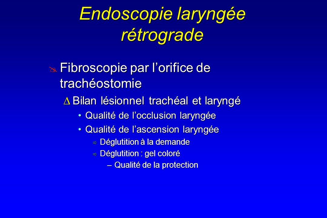 Endoscopie laryngée rétrograde