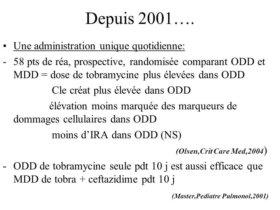 Depuis 2001…. Une administration unique quotidienne: