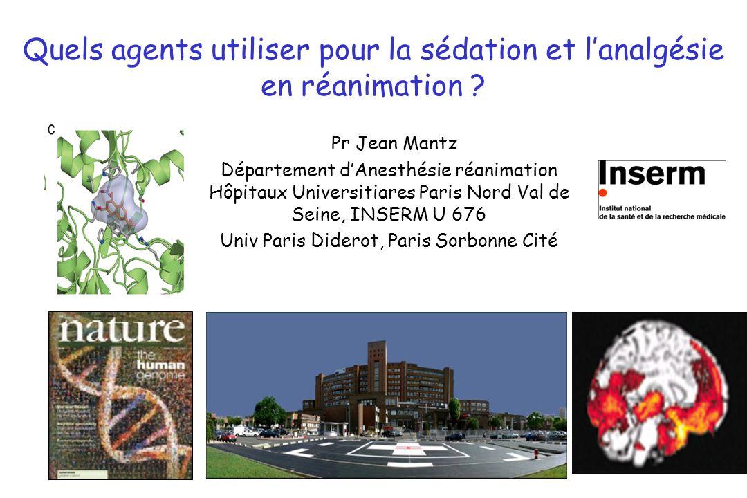 Quels agents utiliser pour la sédation et l'analgésie en réanimation