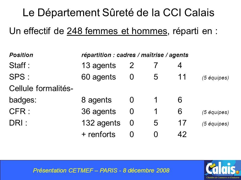 Le Département Sûreté de la CCI Calais